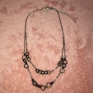 Aeropostale 2Tone Hearts Necklace